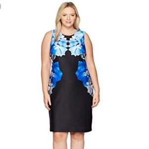 Calvin Klein Women's Floral Scuba Sheath Dress